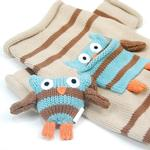 View Image 3 of Owl Love You Forever Dog Sweater and Toy Set by Oscar Newman