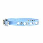 View Image 1 of Patent Pearl & Crystal Dog Collar - Baby Blue