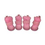 View Image 1 of Pawgglys Dog Boots - Pink