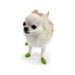 PawZ Disposable Dog Booties 12pk - Tiny Bright Green