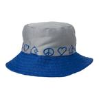 View Image 1 of Peace Bucket Hat by Doggles - Gray/Blue