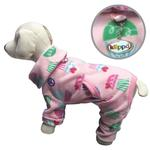 Peace & Cupcake Turtleneck Fleece Dog Pajamas by Klippo