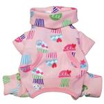 View Image 2 of Peace & Cupcake Turtleneck Fleece Dog Pajamas by Klippo