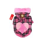 View Image 1 of Peace Generation Dog Jacket by Puppia - Pink