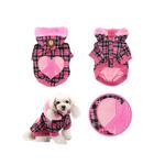 View Image 2 of Peace Generation Dog Jacket by Puppia - Pink