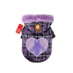 View Image 1 of Peace Generation Dog Jacket by Puppia - Purple