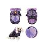 View Image 2 of Peace Generation Dog Jacket by Puppia - Purple