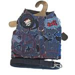 View Image 1 of Peace & Love Denim Harness Vest w/ Leash