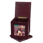 View Image 2 of Peaceful Pet Revolving Mahogany Memorial Box