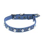 Pearl & Crystal Safety Cat Collar - Baby Blue