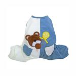 View Image 1 of Peek-a-Boo Teddy Bear Dog Jumpsuit by Klippo