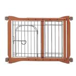 View Image 1 of Wood Pet Sitter Gate - Autumn Matte