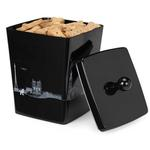 View Image 1 of Pet Studio City Dog Melamine Treat Canister - After Dark