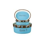 View Image 2 of Pet Studio Cutie Paw Pet Dishes - Blue