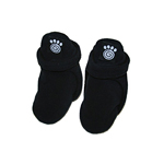 View Image 1 of Petrageous Fleece Dog Booties - Black