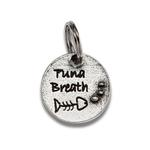 View Image 1 of Pewter Cat Collar Charm - Tuna Breath