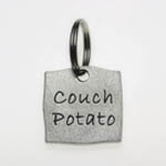 View Image 1 of Pewter Dog Collar Charm or Cat Collar Charm: Couch Potato