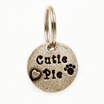 View Image 1 of Pewter Dog Collar Charm or Cat Collar Charm: Cutie Pie