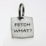 View Image 1 of Pewter Dog Collar Charm or Cat Collar Charm: Fetch What?