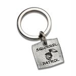 View Image 1 of Pewter Pet Lover Keychain - Acorn Squirrel Patrol