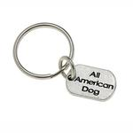 View Image 1 of Pewter Pet Lover Keychain - All American Dog