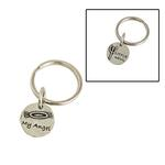 View Image 1 of Pewter Pet Lover Keychain - Angel/Devil