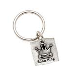 View Image 1 of Pewter Pet Lover Keychain - Bone King