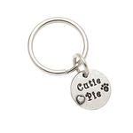 View Image 1 of Pewter Pet Lover Keychain - Cutie Pie