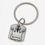 View Image 1 of Pewter Pet Lover Keychain - King