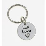View Image 1 of Pewter Pet Lover Keychain - Lab Love