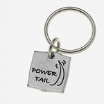 View Image 1 of Pewter Pet Lover Keychain - Power Tail