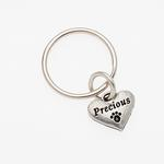View Image 1 of Pewter Pet Lover Keychain - Precious