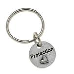 View Image 1 of Pewter Pet Lover Keychain - Protection Heart