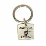 View Image 1 of Pewter Pet Lover Keychain - Squirrel Patrol