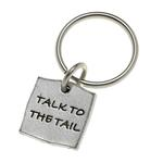View Image 1 of Pewter Pet Lover Keychain - Talk to the Tail