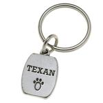 View Image 1 of Pewter Pet Lover Keychain - Texan
