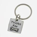 View Image 1 of Pewter Pet Lover Keychain - Tricks for Bones