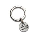View Image 1 of Pewter Pet Lover Keychain - Tuna Breath