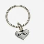 View Image 1 of Pewter Pet Lover Keychain - XOXO