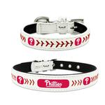 View Image 1 of Philadelphia Phillies Leather Dog Collar
