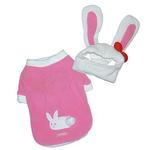 View Image 1 of Pink Bunny Dog Shirt & Hat by Dogo