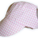 View Image 1 of Pink Gingham Visor Cap