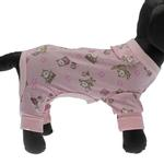 View Image 2 of Pink Owl Dog Pajamas
