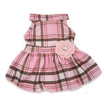 View Image 1 of Pink Plaid Dog Dress