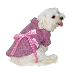 View Image 2 of Pink Ribbon Winter Dog Coat by Dogo