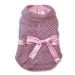 View Image 1 of Pink Ribbon Winter Dog Coat by Dogo