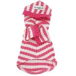 View Image 4 of Pink Stripe Cherry Hooded Shirt by Hip Doggie