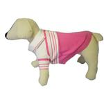 View Image 1 of Pink Striped Polo Dog Shirt