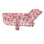View Image 2 of Pitter Patter Packable Dog Rain Poncho - Pink