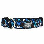 Pitter Patter Wide Clip Adjustable Dog Collar - Chocolate
